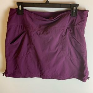 Athleta Skorts size 10. Color: Heather burgundy